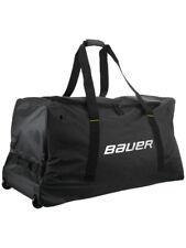 Sac Bauer Core Wheel noir senior avec roulettes hockey sur glace, roller hockey