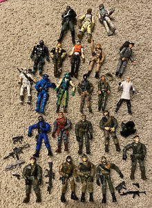 Lanard Corps Huge Lot Of Vintage Military Action Figures 23 + Accessories