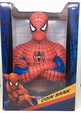 Brand New MARVEL COMICS SPIDERMAN BUST COIN BANK AGES 4+