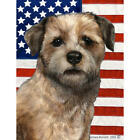 Border Terrier Wheaten Patriotic II Flag
