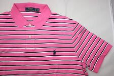 Ralph Lauren Men's Pink Striped Polo Shirt Size XL Gift for Him NWT