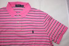 Ralph Lauren Polo Para Hombre A Rayas Rosa Camisa Polo Tamaño S de regalo para él nuevo con etiquetas