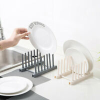 Compact Plastic Dish Drainer Cutlery Draining Holder Plates Rack Kitchen Sink