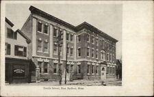 New Bedford MA Textile School c1910 Postcard
