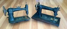 OLD VTG ANTIQUE WHEELER & WILSON PRINCESS MFG CO SEWING TABLE MACHINE LOT OF 2