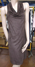 Joseph Ribkoff BNWT 10 Gorgeous Faux Suede Brown Western Style Cowl Neck Dress