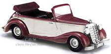 Busch 1/87 HO Scale 1936 Mercedes Benz Cabrio 170V Maroon Convertible #41450