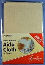"Sew Easy Aida Cloth 14 Count 14"" X 17½"" 100 Cotton Ecru"