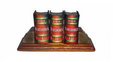 Sabedoria colecao in Portuguese macro miniature 3-book with stand hardbound