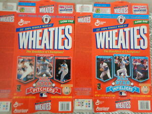 WHEATIES -1998 BASEBALL ALL STARS (2) BOXES - CLASSIC COLLECTIBLE