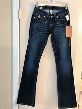 NWT True Religion Becky Crystal Pave Women Jean 26 Style W10564DO4 DK PNYEX $253