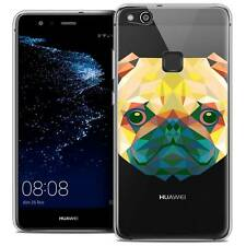 "Coque Housse Etui Pour Huawei P10 LITE (5.2"") Polygon Animal Souple Fin Chien"