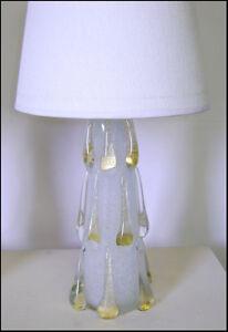 "EXTREMELY RARE MURANO BAROVIER PULEGOSO  GLASS "" GOLDEN DROPS ""  LAMP 1950"