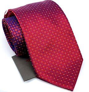Current BRIONI Necktie Red Blue Gradient Men's 100% Silk Tie Made in ITALY New