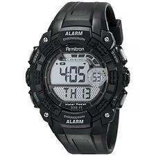 Armitron Men's Black Resin Watch, 100 Meter WR, Chronograph, 40/8209BLK