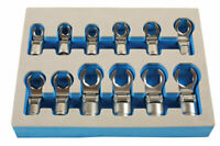 """Laser Tools 7165 Flexible Crows Foot Wrench Set 3/8""""D 12pc"""