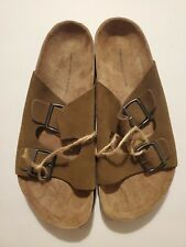 New American Eagle Leather Sandals Faux Birkenstock Men's -Size 11 NWT Tan