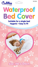 Waterproof Baby Toddler Bed Cover Mattress Protector White Single Sheet 200x100