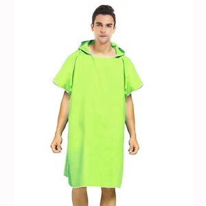Surf Poncho Wetsuit Changing Robe Towel Hooded Soft for Men Women Beach Surfer