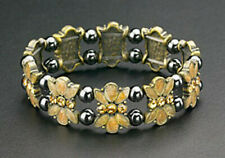 Magnetic Hematite Bracelets Round Beads Butterfly Crystal Natural Stone Stretch
