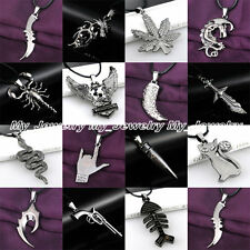 Fashion Cool Women Men Black Stainless Steel Pendant Necklace Best Jewelry Gifts