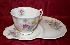Vintage Royal Albert Flowers Of The Month October Cosmos Tennis Set Cup Saucer
