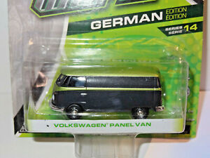 GREENLIGHT MOTOR WORLD BLACK & GREEN 1960's VOLKSWAGEN PANEL VAN