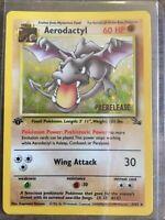 Potential PSA High Grade 1st Edition Prerelease Aerodactyl Holo Pokemon Card