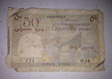 Djibouti/French Somaliland:50 Francs,1952 *