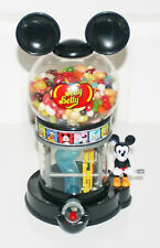 MICKEY MOUSE JELLY BELLY BEAN CANDY MACHINE CRANK DISPENSER EAR TOP DISNEY BEANS