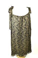 Thomas Wylde Low Cut Dress 100% Silk Lined Tie Shoulder Straps Sexy Size M NWT