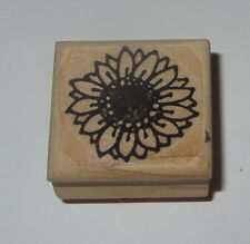Sunflower Rubber Stamp Flowers Rocky Mountain Rubber Stamps Wood Mounted