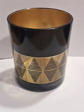 Windlicht / Teelichthalter schwarz gold Glas edel Deko Tischdeko