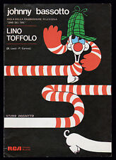 LINO TOFFOLO SPARTITO MUSICALE SHEET MUSIC JOHNNY BASSOTTO