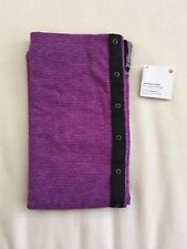 NWT Lululemon Vinyasa Scarf Wrap MCQT Mini Check Pique Tender Violet Purple $48