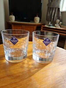 2 Edinburgh Crystal Skibo Whisky Tumblers