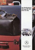 Mercedes Transporter Prospekt 1992 6/92 brochure Broschüre LKW brosjyre broschyr
