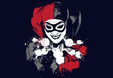 Harlequin HARLEY QUINN Suicide Squad BATMAN Joker DC Variant TEEVILLAIN T-SHIRT