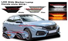 2016 2017 Honda Civic JDM Smoked Lens LED Switchback Amber/White Side Markers