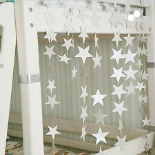4M Star Hanging Garland Wedding Birthday Party Room Decor XMAS Tree Decor DSUK
