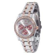 Yves Camani Mielle Reloj Mujer Multifunción Acero Dorado Rosado Dia Fecha Nuevo