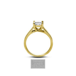 2ct G VS1 Princess Earth Mined Certified Diamond 14k  Solitaire Engagement Ring