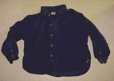 chemise clayeux velours bleue  8 ans
