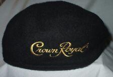 Crown Royal Black Wool Hat Cap One Size Drink Liquor Bar Pub