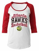 Atlanta Hawks Shirt Maternity Womens SZ M Basketball 3/4 Sleeve Scoop Pregnancy