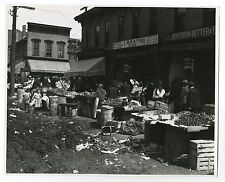 Chicago History - Street Market - Vintage 8x10 Photograph - Chicago, IL