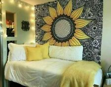 Vibrant Color Yellow Sunflower Wall Hanging Boho Hippy Beach Throw New Tapestry