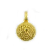 Pendente ciondolo corbula in oro giallo realizzato a mano artigianato sardegna