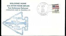 1987 USS Baton Rouge SSN 689 Ship Cover  a