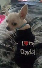 Chihuahua (XSMALL Tamaño) I Love Daddy Azul Camiseta perro ropa ropa para mascotas